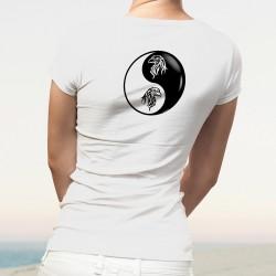 Donna moda T-Shirt - Yin-Yang - Testa di Aquila Tribale
