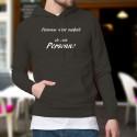 Cotton Hoodie T-Shirt - Personne n'est parfait