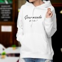 Hooded Funny Sweat - Gourmande, What else ?