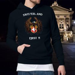 Maglione di cotone con cappuccio - Switzerland First - Aquila