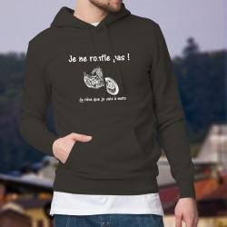 Pull à capuche coton - Je ne ronfle pas - mode motard chopper homme