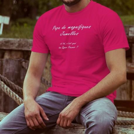Uomo cotone T-Shirt - PAPA Super Pouvoir