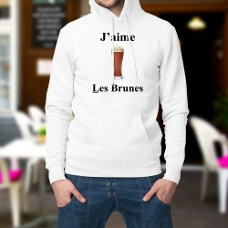 Hooded Funny Sweat - J'aime les Brunes