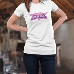 Damenmode T-shirt - Super MAMI