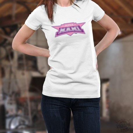 "T-shirt mode dame - Super MAMI - Super Héroïne""- grand-maman"