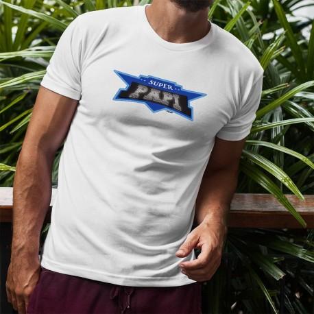 T-Shirt humoristique mode homme - Super PAPI - Super Héros