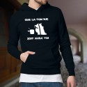 Cotton Hoodie T-Shirt - Que la Fondue soit avec Toi