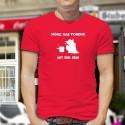 Men's cotton T-Shirt - Möge das Fondue mit Dir sein