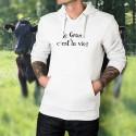 Kapuzen-Sweatshirt - Le Gras, c'est la vie