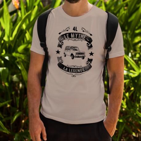 T-Shirt humoristique vintage - Renault 4L, le mythe, la Légende - pour homme