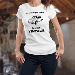 Donna funny slim T-shirt - Vintage VW Maggiolino