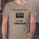 Vintage Cassette audio ⏪⏸⏵⏹⏩ T-shirt homme