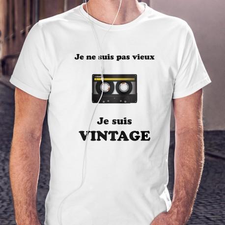 Vintage Cassette audio ⏪⏸⏵⏹⏩ Je ne suis pas vieux, je suis Vintage - T-shirt homme avec une cassette à bande magnétique