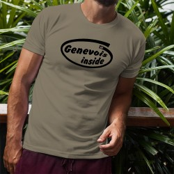 Genevois inside ★ Genevois à l'intérieur ★ T-Shirt homme, inspiré de la publicité Intel pour ses microprocesseurs Pentium
