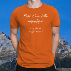 Uomo cotone T-Shirt - Papa Fille Super Pouvoir