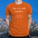 Baumwolle T-Shirt - Papa Fille Super Pouvoir