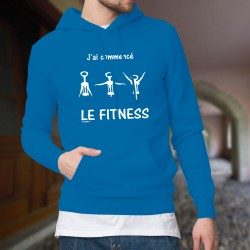 Cotton Hoodie T-Shirt - J'ai commencé le Fitness