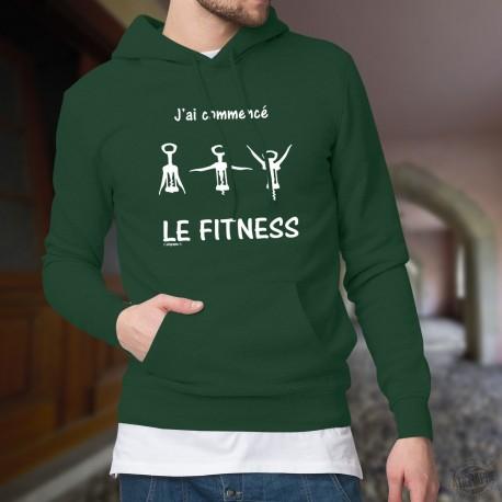 Cotton Hoodie T-Shirt - J'ai commencé le Fitness