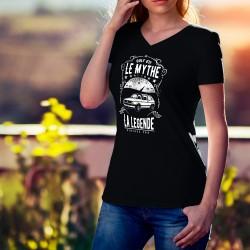 T-shirt coton mode Dame - Volkswagen Golf GTI, le Mythe, la Légende