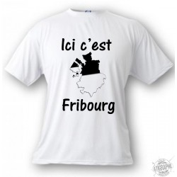 Men's or Women's T-Shirt - Ici c'est Fribourg, White