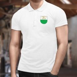 Polo mode homme - Liberté et Papet Vaudois - drapeau Vaudois