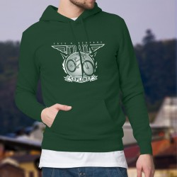 Men's Cotton Hoodie - ATV Trail Explorer - Mountain Bike