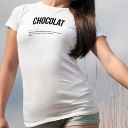 Donna moda T-shirt - CHOCOLAT