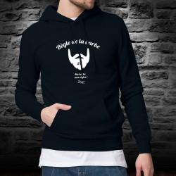 Pull à capuche coton mode homme - Règle de la barbe N°7 - Ma barbe, mes règles ! C'est Votre barbe, ce sont Vos règles !