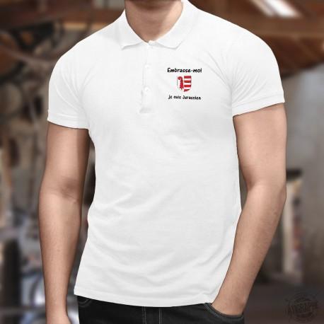 Uomo Polo Shirt - Embrasse-moi, je suis Jurassien