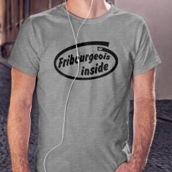 Uomo moda divertente T-shirt - Fribourgeois inside