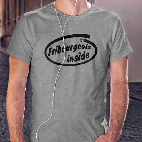 T-shirt humoristique mode homme - Fribourgeois inside, (Fribourgeois à l'intérieur)