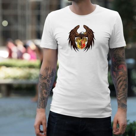 T-Shirt mode homme - Aigle Genevois - écusson du canton de Genève