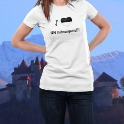 Donna moda T-shirt - J'aime UN fribourgeois