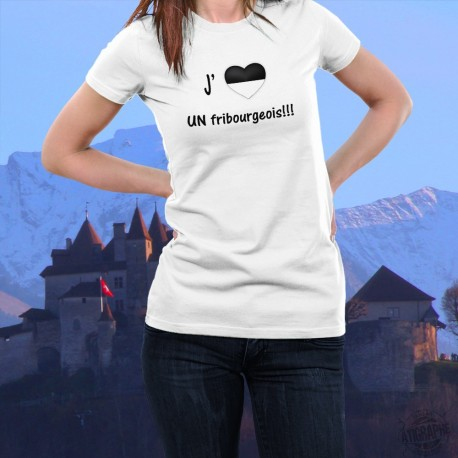 Frauenmode T-Shirt - J'aime UN fribourgeois