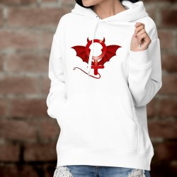 Women's fashion Hoodie - Devil Woman - the diabolical symbol of the femininity