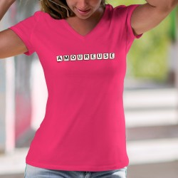 Baumwolle T-Shirt - Amoureuse