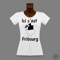 Donna slim T-shirt - Ici c'est Fribourg