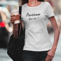 Women's slim fashion T-Shirt - Parisienne, What else ?