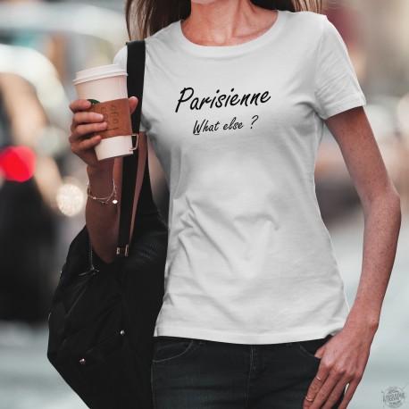 T-shirt humoristique mode dame - Parisienne, What else ? - Clooney espresso parisien