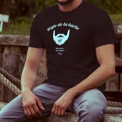 T-shirt coton mode homme - Règle de la barbe N°7 - Ma barbe, mes règles - une évidence pour un hipster