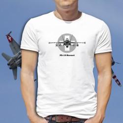 Herren Kampfflugzeug T-Shirt - Swiss FA-18 Hornet - McDonnell Douglas - Schweizer Luftwaffe
