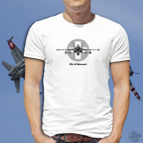 T-Shirt avion de combat -  Swiss FA-18 Hornet - McDonnell Douglas - Forces aériennes suisses