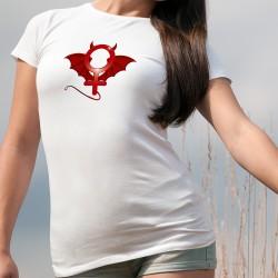 Frauen T-shirt - Teuflisch weiblich - mit dem teuflischen Symbol der Weiblichkeit
