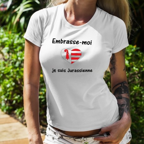 Mode T-shirt - Embrasse-moi je suis Jurassienne