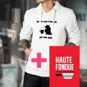 Maglione con cappuccio e libro insieme - Möge das Fondue mit Dir sein