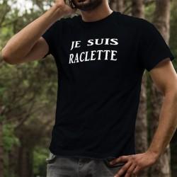 T-shirt coton mode homme - Je suis RACLETTE (recette de fromage valaisan, raclé au fur et à mesure qu'il fond)