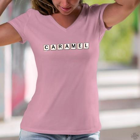Women's cotton T-Shirt - Caramel