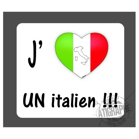 Sticker - J'aime un italien - Adesivo per Automobile