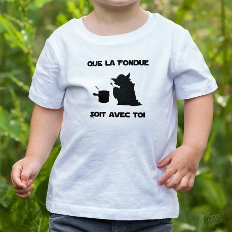 Youth T-shirt - Que la Fondue soit avec Toi