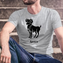 T-Shirt signe du Zodiaque - Bélier (Aries en latin) - pour homme du 21 mars au 20 avril